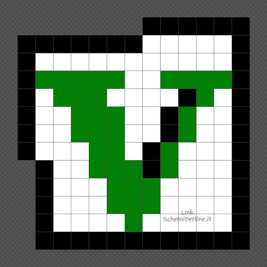 Il logo di GTA V schema perline da stirare Pyssla Hama Beads 13x13