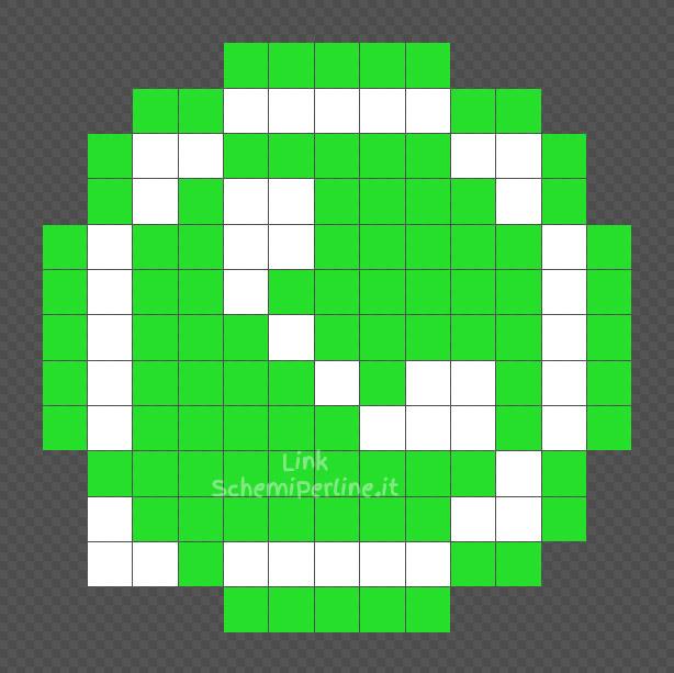 Il logo di WhatsApp schemino facile coding Pyssla 13x13