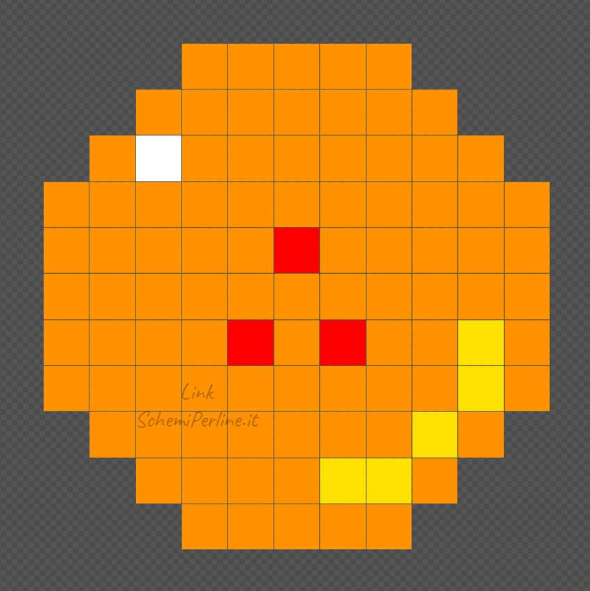 La sfera numero 3 di Dragonball schema Pyssla