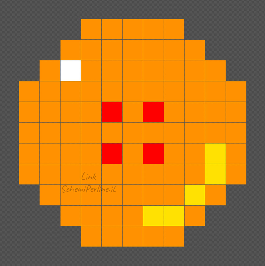 La sfera numero 4 di Dragonball schema Pyssla