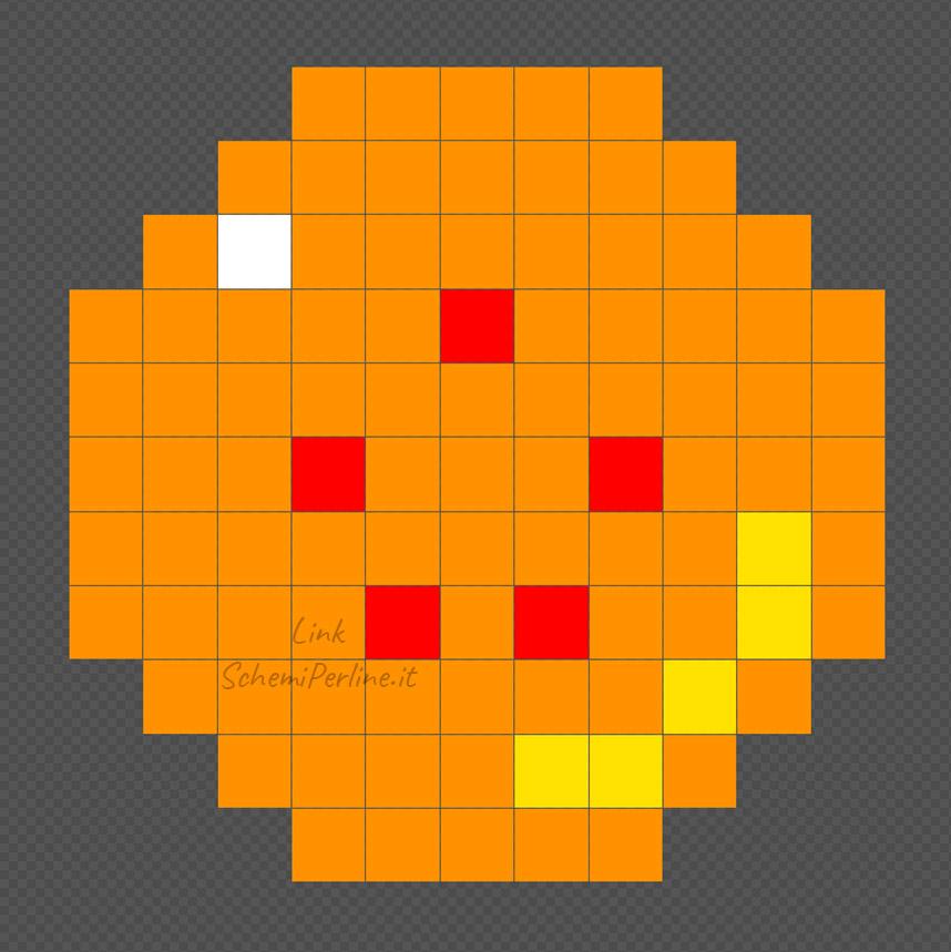 La sfera numero 5 di Dragonball schema Pyssla