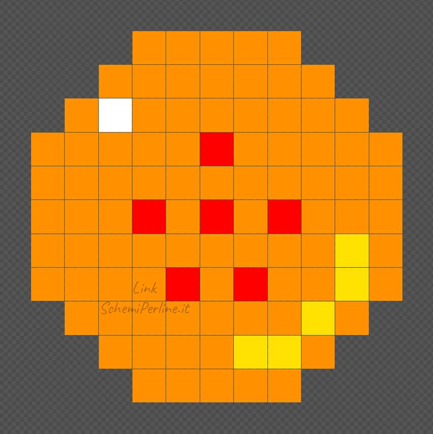 La sfera numero 6 di Dragonball schema Pyssla
