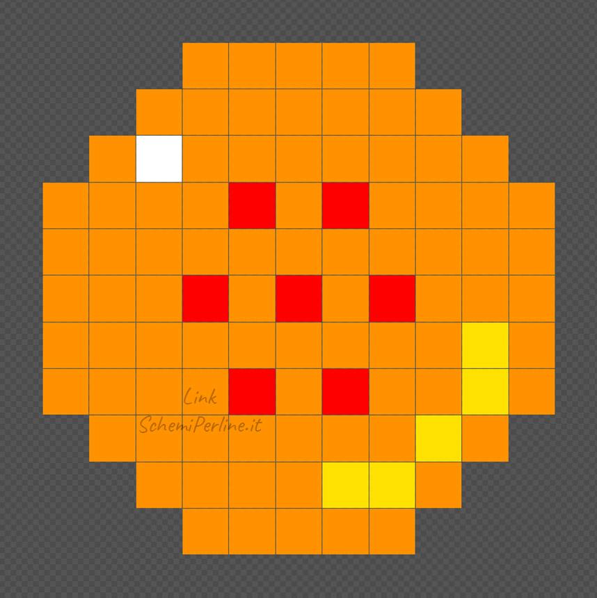 La sfera numero 7 di Dragonball schema Pyssla