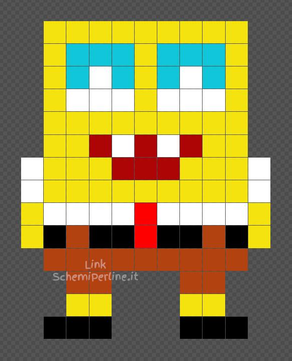 Spongebob schema perline da stirare Pyssla coding 11x14