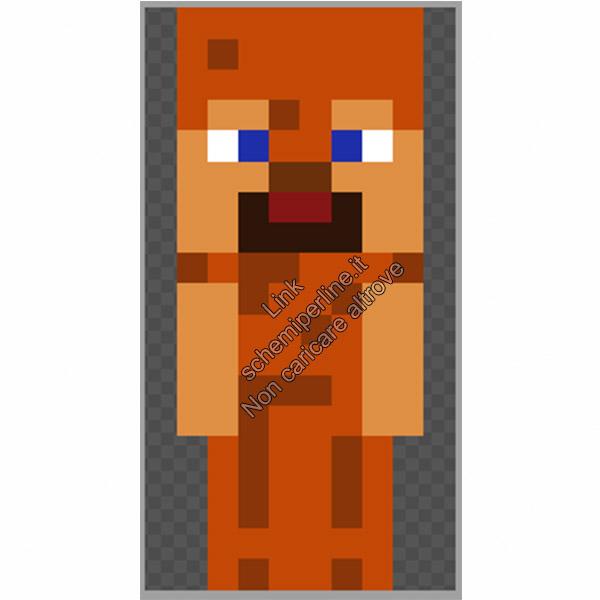 Steve con armatura di cuoio schema Minecraft pyssla 10x19